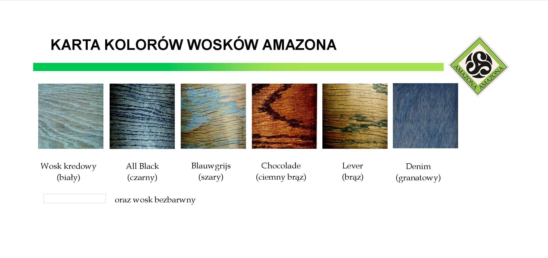 karta kolorów Amazona